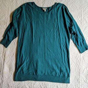 Talbots Luxury Blend 3/4 Sleeve Sweater